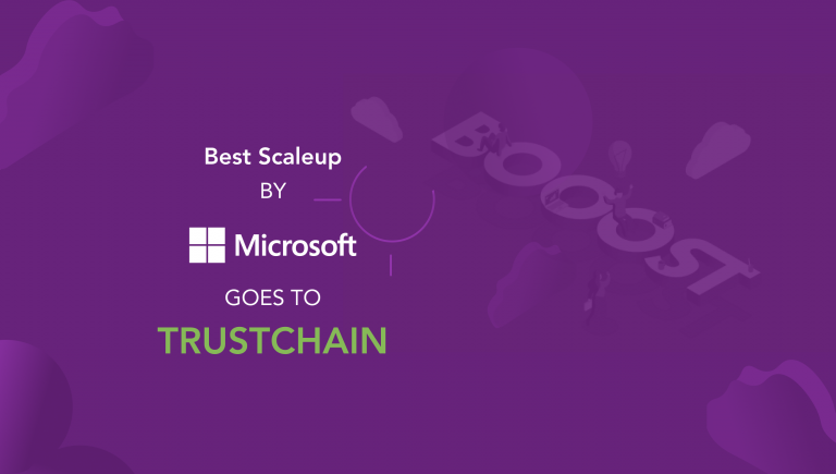 A Microsoft-tól kapott díjat a TrustChain